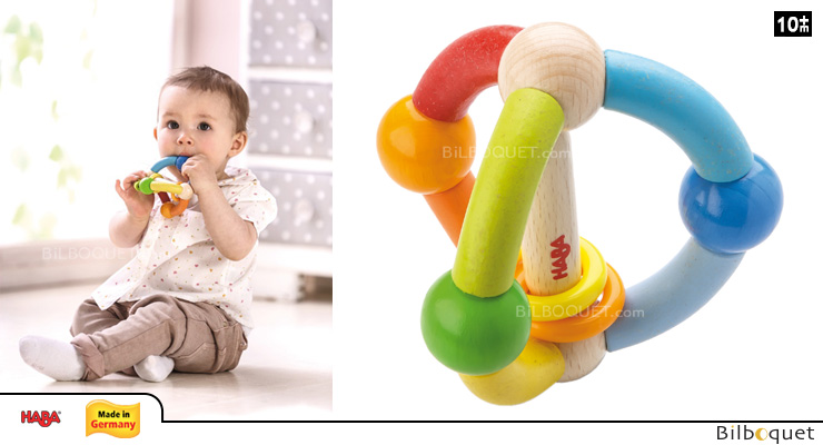 Wooden Clutching toy Rainbow Dream Haba