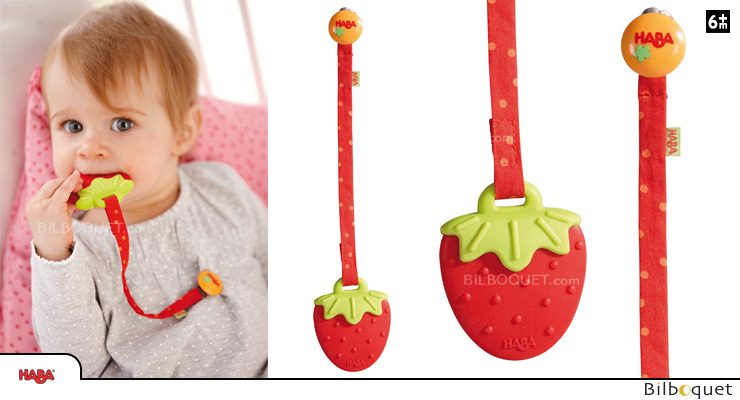 Teething Clutching Toy Strawberry Haba
