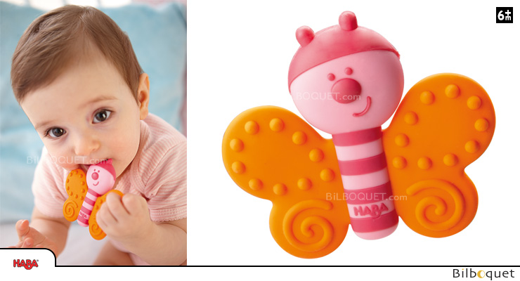 Teething Clutching Toy Butterfly Haba