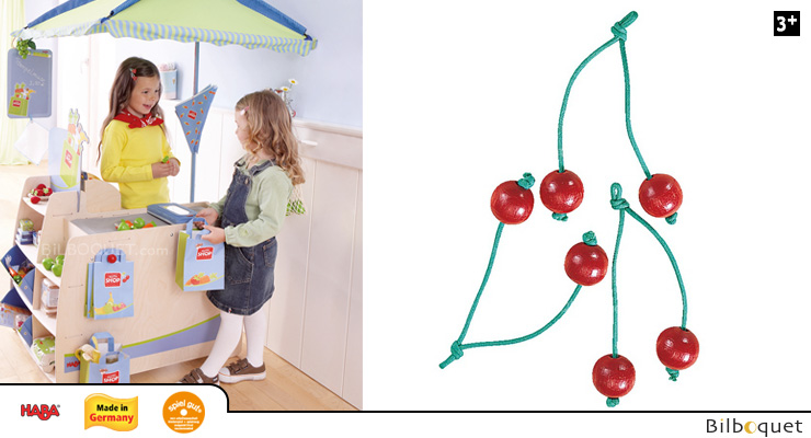 Pair of cherries - Haba Wooden Toy Shop Haba