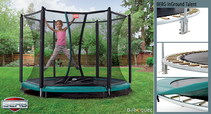 Trampoline BERG InGround Talent avec filet de protection Confort InGround Talent 300 BERG