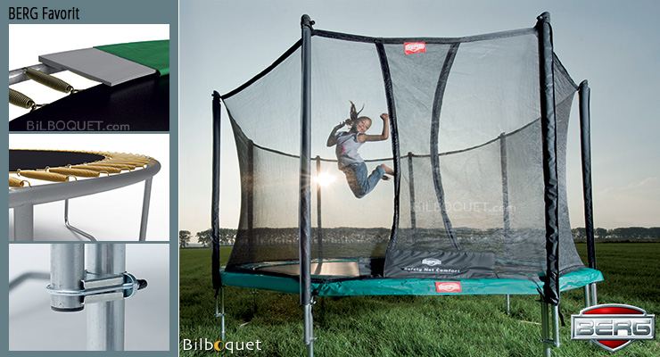 BERG Trampoline Favorit + Safety Net Comfort Favorit 430 BERG
