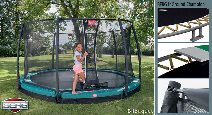 Trampoline BERG InGround Champion avec filet de protection Deluxe InGround Champion 330 BERG