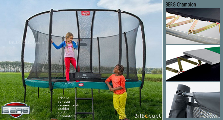 BERG Trampoline Champion + Safety Net Deluxe Champion 430 BERG