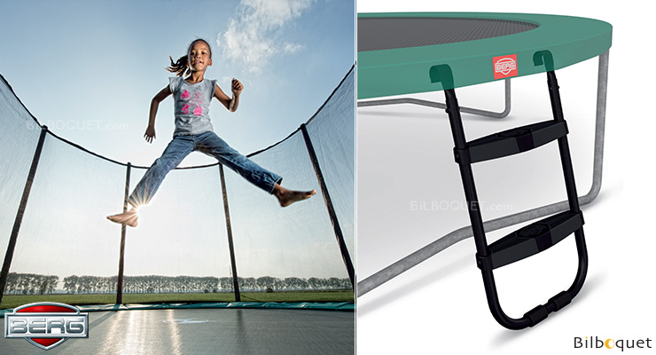 Ladder M for trampolines measuring 70 and 76 cm high BERG