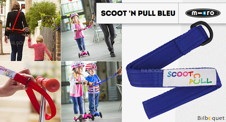 Scoot'N Pull - Bleu - Accessoire pour trottinette Mini Micro Micro Mobility Scooters & Kickboards
