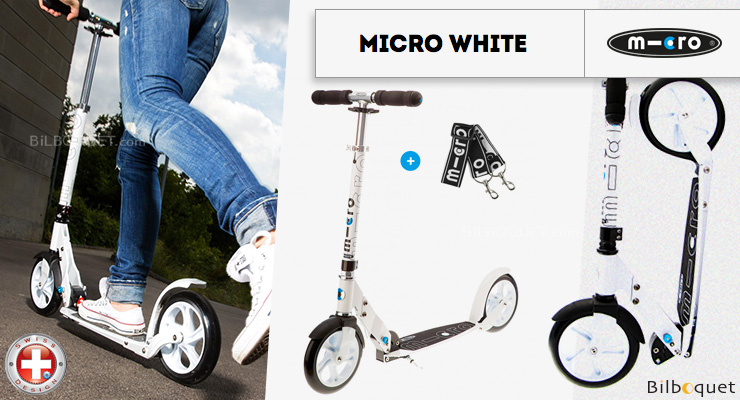 Micro Scooter White - Adult Micro Mobility Scooters & Kickboards