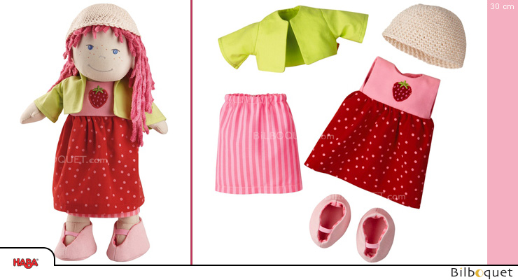 Strawberry Dress Set for Haba 30cm dolls Haba