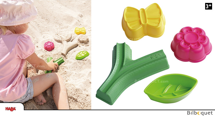 Large Sand Gardening Set - Molds and Stamps Haba