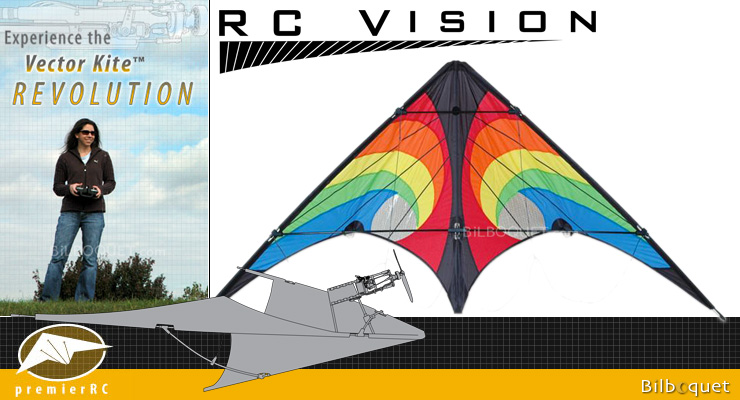 Vision Vector Kite 840 Series - Rainbow Vortex Premier RC