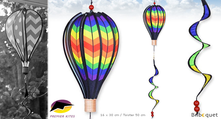 Hot Air Balloon 30cm Double Chevron Premier Kites & Designs