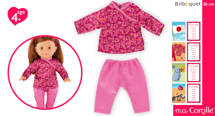 Japan Pajamas Set for Ma Corolle 36cm Doll Corolle