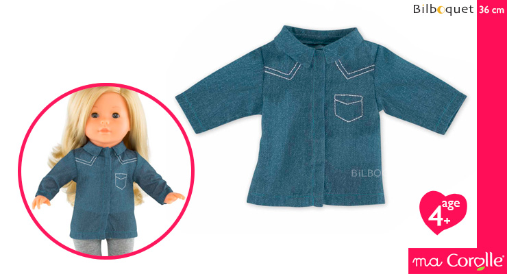 Blue Shirt for Ma Corolle 36cm Doll Corolle