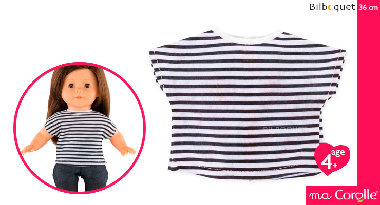 Stripped T-Shirt for Ma Corolle 36cm Doll Corolle