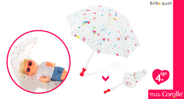 Beach Umbrella for Ma Corolle 36cm Doll Corolle