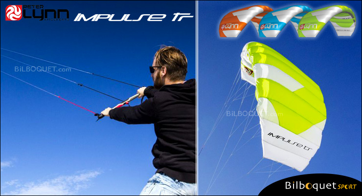 Peter Lynn Impulse TR 3-line Trainer Kite 3.0m² - White/Lime Peter Lynn