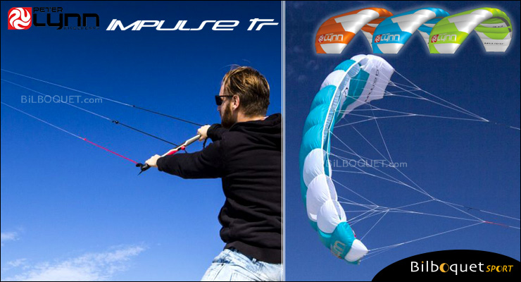 Peter Lynn Impulse TR 3-line Trainer Kite 2.0m² - White/Aqua Peter Lynn