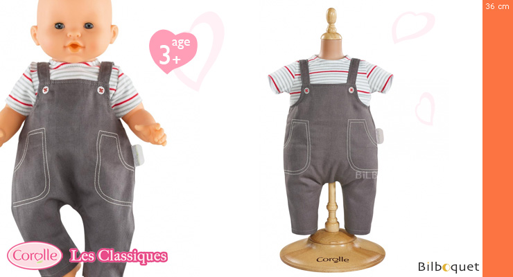 Smock & Denim Overall for 36cm Doll Corolle
