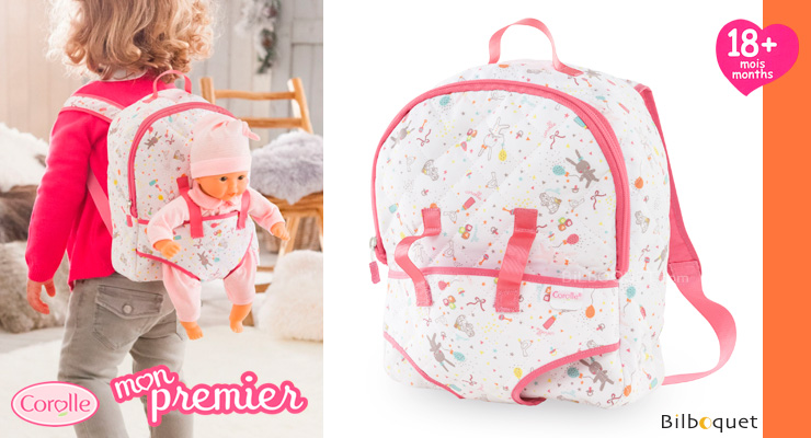 Mon Premier Baby Carrier Backpack for 30cm Baby Dolls Corolle