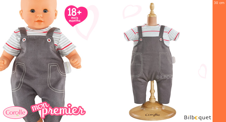 Smock & Denim Overall for 30cm Baby Doll Corolle