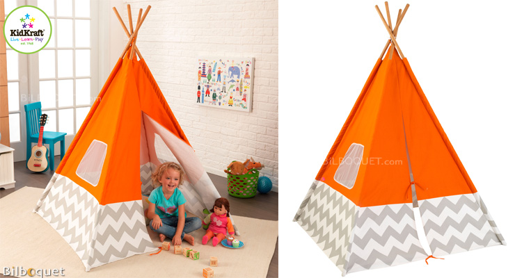 Play Teepee - Orange Chevron KidKraft