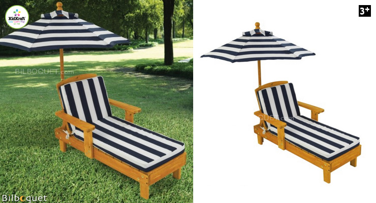 Outdoor Chaise for kids with Umbrella KidKraft