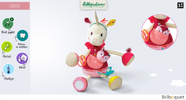 Louise cuddly activity unicorn Lilliputiens