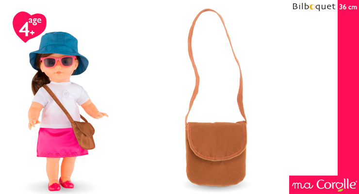 Brown Handbag for Ma Corolle 36cm Doll Corolle