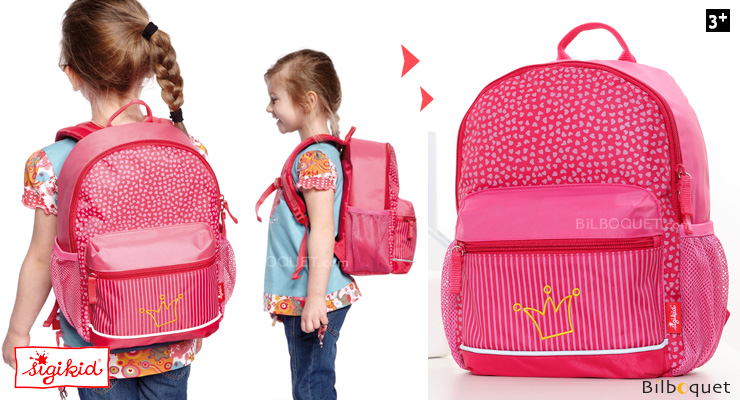 Child Backpack 31x12x25cm - Princess Pinky Queeny Sigikid