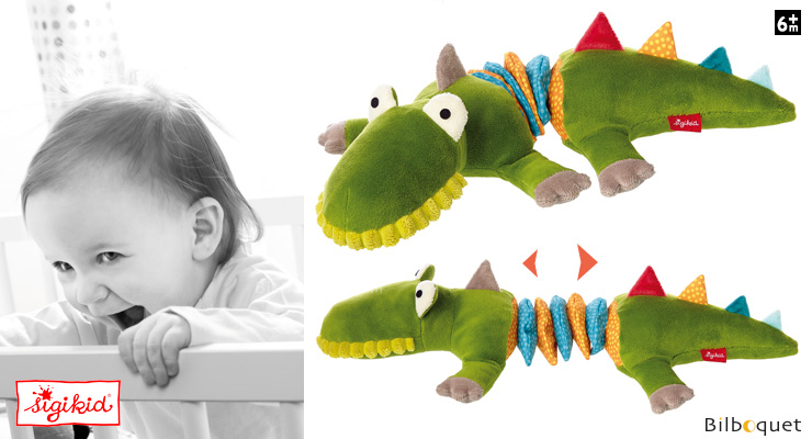 Vibrating Rattle Toy Crocodile's friends 34cm Sigikid