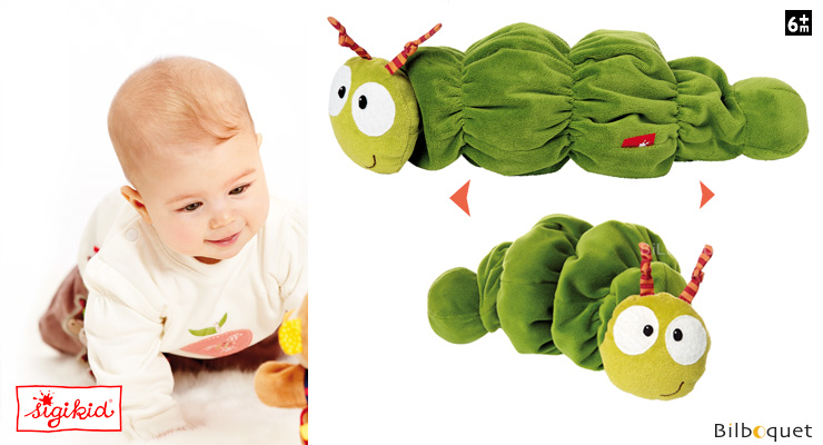 Vibrating Rattle Toy Caterpillar 21cm Sigikid