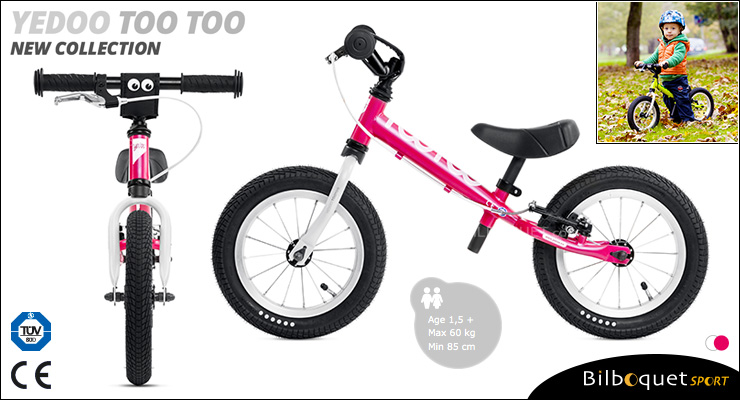 YEDOO Too Too II Running Bike - Magenta/White Yedoo
