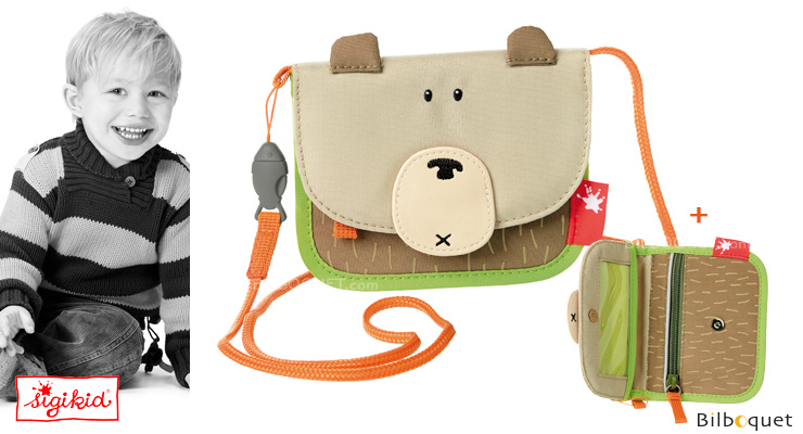 Neck Pouch / Wallet for kids - Sigikid Forest Grizzly Sigikid