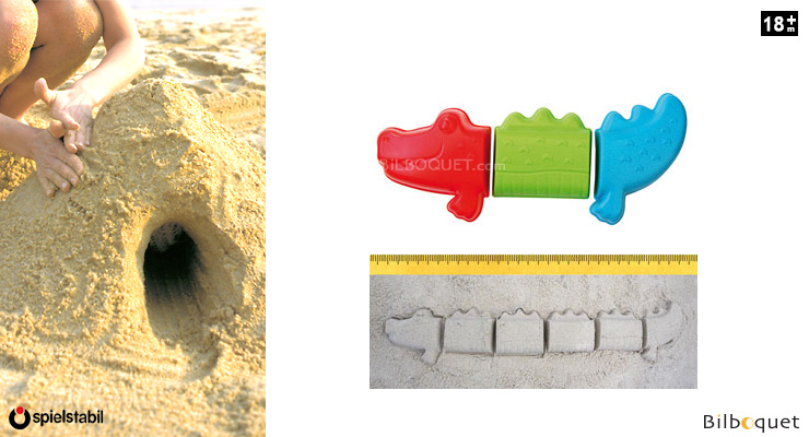 Sand moulds - Never-ending Crocodile Spielstabil