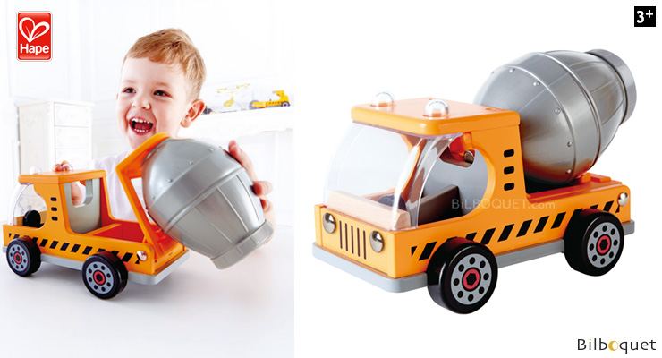 Mix'N Truck - Mixer truck - Construction Vehicles Hape Toys