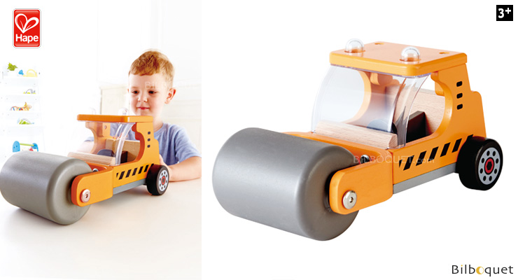Steam'N Roll - Steamroller - Construction Vehicles Hape Toys