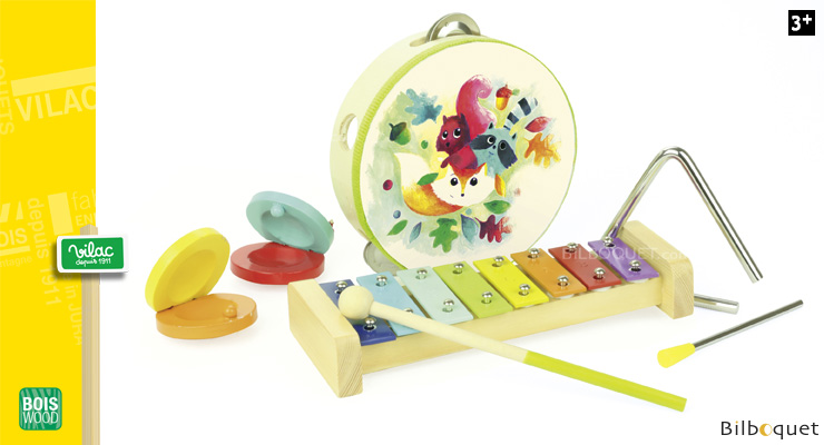 Set of Musical Instruments - Woodland - Wooden Toys Vilac
