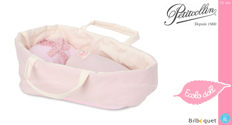 Organic Cotton Soft Basket for dolls up to 28cm Petitcollin