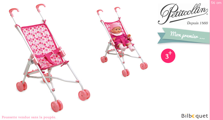 Foldable push chair for doll up to 52cm - Apples Petitcollin