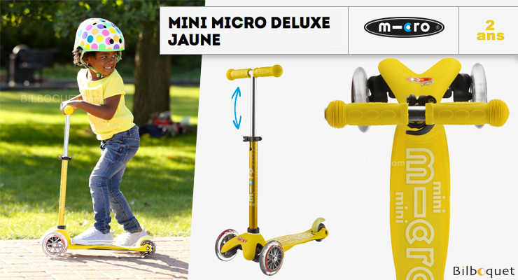 Mini Micro Deluxe Jaune - Trottinette 3-5 ans Micro Mobility Scooters & Kickboards