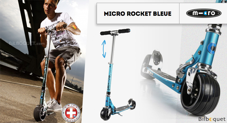 Trottinette Micro Rocket bleue - Adulte Micro Mobility Scooters & Kickboards