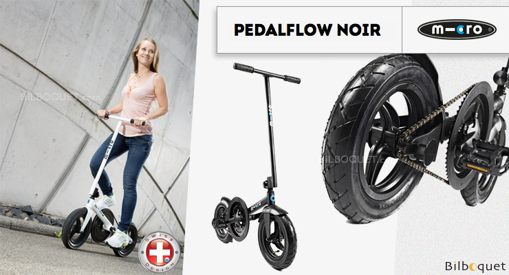 Micro Scooter Pedalflow - Adult - Black Micro Mobility Scooters & Kickboards