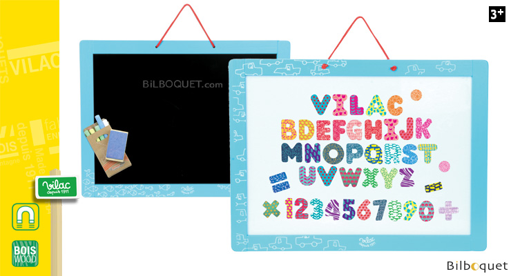 Magnetic board with magnets and chalks Vilac