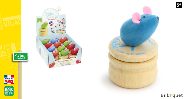 Wooden teeth box - Blue Mouse Vilac