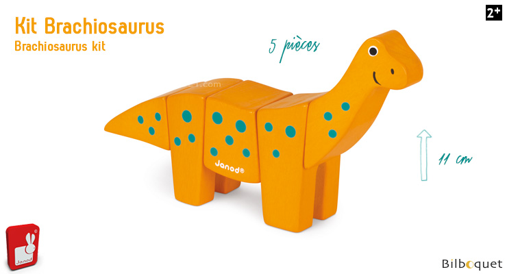 Funny Animal Kit Brachiosaurus - Wooden Puzzle Janod