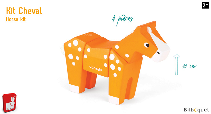 Funny Animal Kit Horse - Wooden Puzzle Janod