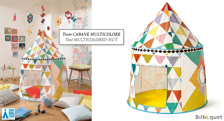 Multicolored Hut - Play Tent Little Big Room by Djeco