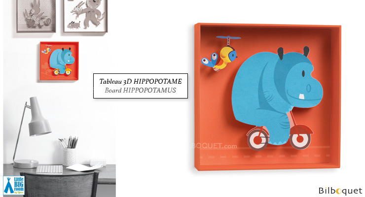 Hippopotamus - Kids Room Decor Little Big Room by Djeco