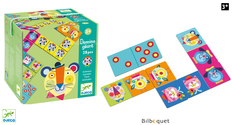 Giant Domino - Animals - 28 pieces Djeco