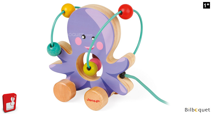 Mini Looping Octopus - Wooden pull-along toy Janod